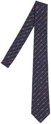 Gucci 7cm Gg Interlocking Silk & Wool Tie