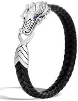 John Hardy Men's Legends Naga Dragon Leather Dragon Bracelet