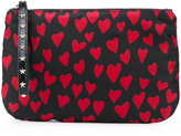 RED Valentino heart print zipped clutch - women - Polyester/Polyurethane/Metal (Other) - One Size