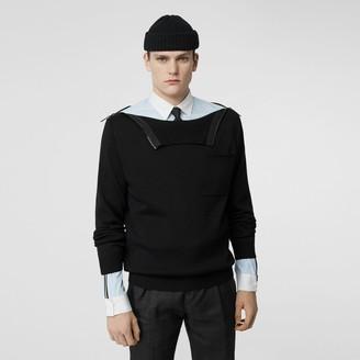 Burberry Zip Detail Wool Turtleneck Sweater