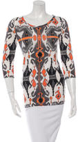 Gucci Cashmere & Silk-Blend Abstract Print Top