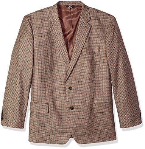 Haggar Men's Big and Tall B&T Houndstooth Plaid Lambswool Classic Fit Sport Coat