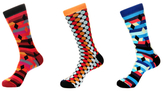 Jared Lang Dotted, Diamonds and Stripes Socks (3 PK)