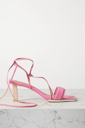 Jacquemus Adour Nubuck Sandals - Fuchsia