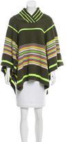 Matthew Williamson Wool Patterned Poncho