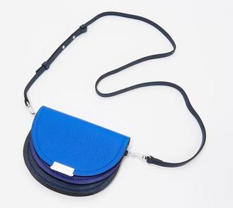 Vince Camuto Color-Blocked Pebble Leather Crossbody - Gema