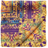 Etro Batik Printed Silk Satin Pocket Square