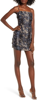 J.o.a. Shirred Minidress