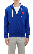 Comme des Garcons Men's Heart Patch Zip-Front Hoodie