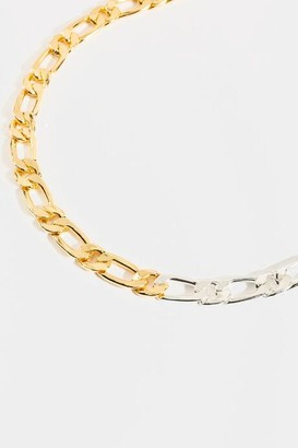 francesca's Skylar Two-Tone Curb Chain Necklace - Mixed Plating