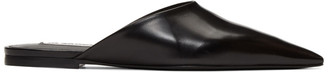 Jil Sander Black Pointed Toe Mules