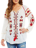 Chelsea & Violet Isadora Long Sleeve Embroidered Tunic