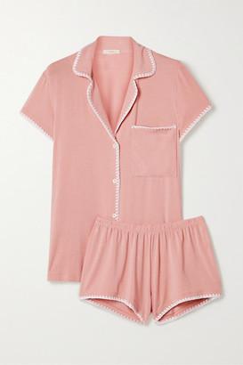 Eberjey Frida Whipstitched Stretch-modal Jersey Pajama Set - Antique rose