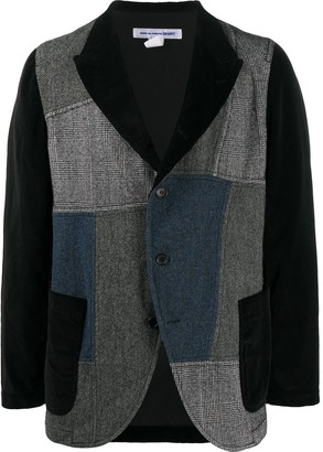 Comme des Garcons Patchwork Long-Sleeve Jacket