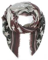 Daniel Star & Stripe Black Scarf