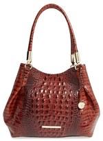 Brahmin 'Judith' Croc Embossed Leather Hobo - Brown
