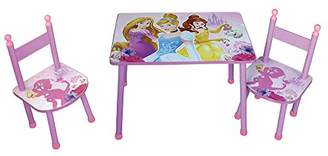 Camilla And Marc Fun House 712584 Disney Princess Children's Table and Two Chairs Set Pink MDF 60 x 40 x 44 cm
