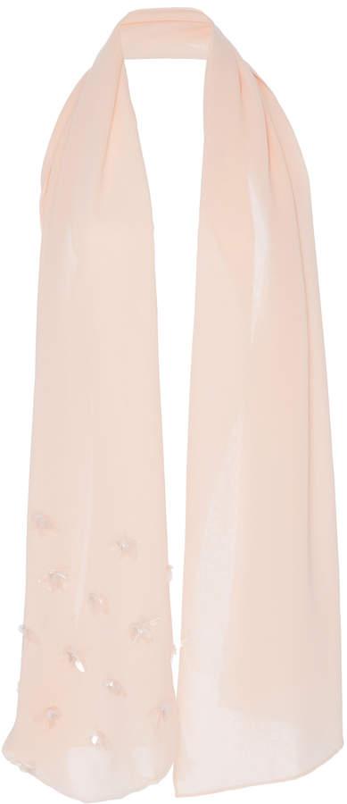 DELPOZO Embroidered Silk-Chiffon Scarf