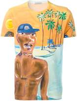 Moncler painted beach scene T-shirt