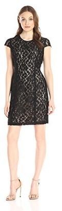 Lark & Ro Amazon Brand Women's Short Sleeve Graphic Lace Sheath Dress