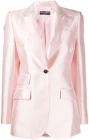 Dolce & Gabbana single-breasted flap pocket blazer