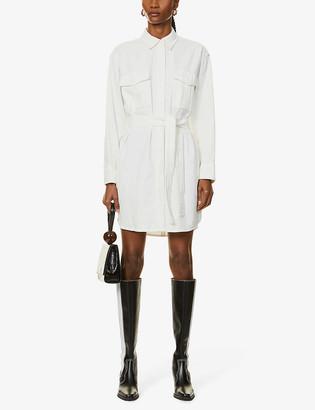 Rag & Bone Belted cotton shirt mini dress