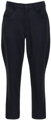 Comme des Garcons Pinstripe Wool & Mohair Pants