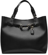 Reiss Bleecker - Structured Leather Tote in Black, Womens