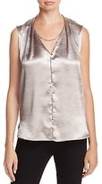 T Tahari Daria Textured High-Shine Top