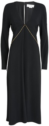Victoria Beckham Chain-Detail Midi Dress