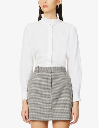 Claudie Pierlot Frilly-trim cotton shirt