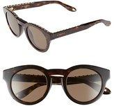 Givenchy Women's 48Mm Round Sunglasses - Dark Havana