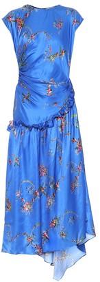 Preen by Thornton Bregazzi Andrea floral satin midi dress