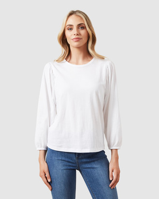 French Connection Puff 3/4 Sleeve T Shirt