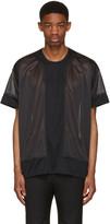 Comme des Garcons Black Jersey Mesh T-Shirt