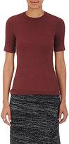 ATM Anthony Thomas Melillo Women's Ribbed Jersey Short-Sleeve Top-BURGUNDY, GOLD