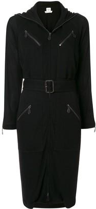 Hermes Pre-Owned Belted Knee-Length Dress