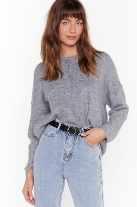 Nasty Gal Womens Easy As It Seams Relaxed Knit Jumper - Grey - One Size