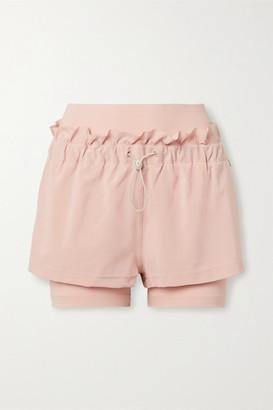 adidas by Stella McCartney Ruffled Stretch-jersey And Shell Shorts - Pink