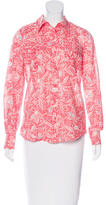 Tory Burch Abstract Print Button-Up Top w/ Tags