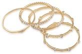 ABS by Allen Schwartz Jeweled & Textured Bangles, Set of 5