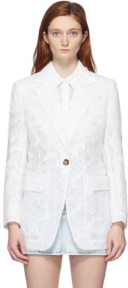 MSGM White Lace Blazer