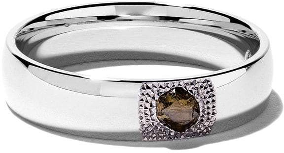De Beers 18kt white gold Talisman You & Me diamond 5mm band