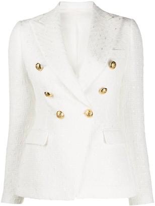 Tagliatore Jalicya textured blazer jacket