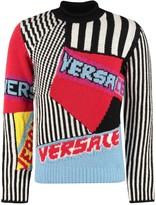 Versace Intarsia Wool Sweater