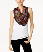 Echo Reversible Paisley Silk Triangle Scarf