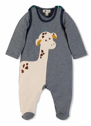 Sterntaler Cuddly Zoo Romper Set Greta the Giraffe Motif Age: 3-4 Months Size: 0-3m Blue/Beige