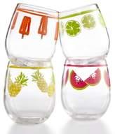 Martha Stewart Collection Martha Stewart Collection 4-Pc. Stemless Wine Glass Set
