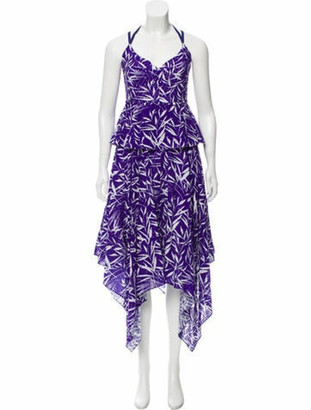 Prabal Gurung Bamboo Eyelet Maxi Dress w/ Tags Violet