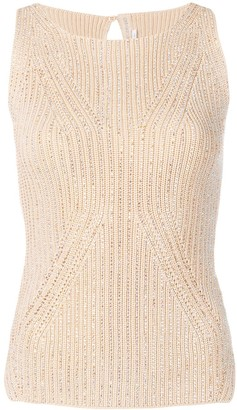 Ermanno Scervino Crystal Embellished Top